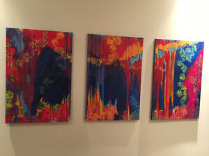 3 Beautiful Abstract Paintings