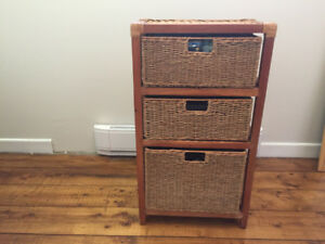 Wicker Chest of Drawers- $15 ea