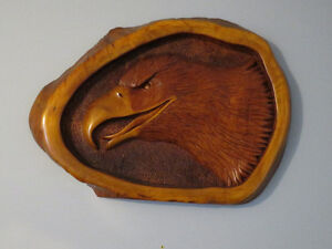 HAND CARVED EAGLES HEAD