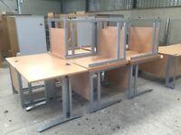 Large quantity of student desks