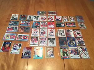 Lot of Montreal Canadians hockey cards and jersey cards
