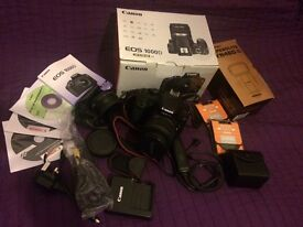 Canon 1000D EF-S 18-55 plus a lot of extras