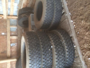 Excellent Used Drive Tires. 11 R 24.5 and 22.5