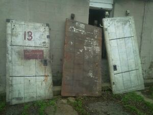 Antique industrial doors