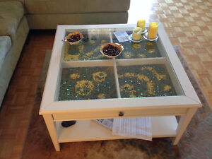 Very large and beautiful white made of solid wood coffee table