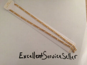 NEW Gold plated 18k 5mm Figaro chain, 18 inch,22inch,26incheap