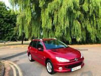 2006 Peugeot 206 SW 1.4 Verve 5 Door Estate Metallic Red (68,000 Miles)