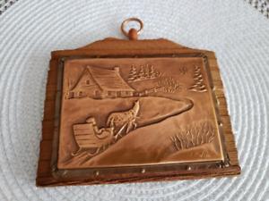 Petit plaque en graver de cuivre