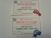 Car Wash Gift Certificates (Full Service) -x2-