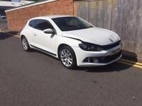 Volkswagen Scirocco 1.4 TSI (160ps) 2010 White Damaged Not Recorded Only 44k