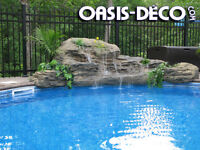 CASCADE POUR PISCINE / Swimming pool waterfall
