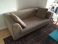 Premium Dwell two-seater sofa in olive green £150 ono