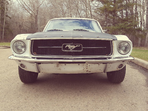 1967 Ford Mustang coupe. V8. C code. Drive home. OBO