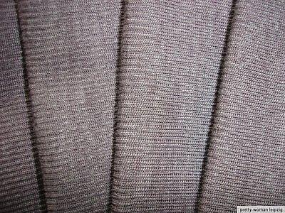 1 Lfm Schlauchstoff 5,70€/m² Strickschlauch Wolle Rippstrick braun PC50
