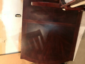 Wood dinning table with 8 chairs