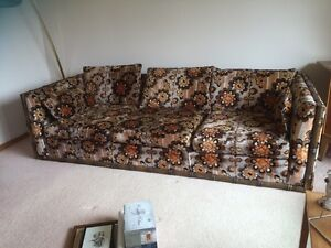 Vintage couch and matching  chair Peterborough Peterborough Area image 1