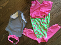 2T girl clothes bathing suits and pyjamas