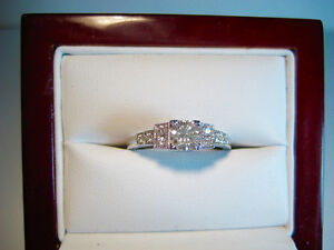 New 1930s-40s Retro Style Diamond Engagement Ring with BONUS!!!