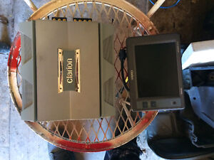 Bran new clarion amp and LCD screen
