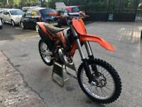 2014 KTM 125 SX VERY CLEAN FMF SHORTY ORANGE FRAME APICO LEVERS PEGS