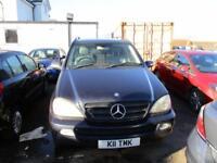 2002 Mercedes-Benz M Class 5Dr 4wd 2.7D ML270 CDI Station Wagon Tip A5 Diesel bl