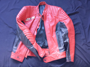 Dainese Speed Leather jacket red with black