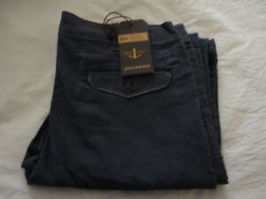 NWT Dockers D1 Charcoal Grey casual cotton pants career 36x32