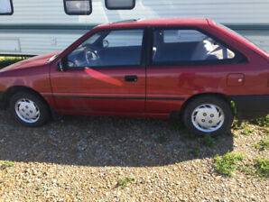 1993 Hyundai Excel in amazing shape! Low KMs! Perfect commuter!