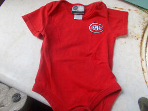 Montreal Canadiens Baby Diaper Shirt, Size 6/9 Months
