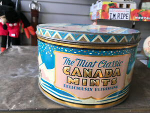 VINTAGE THE MINT CLASSIC CANADA MINTS 5 LB. TIN KITCHENER