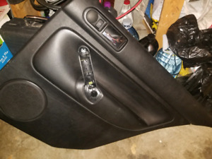 Mk4 Jetta passenger rear leather door card