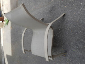 Outdoor sling back aluminum chairs