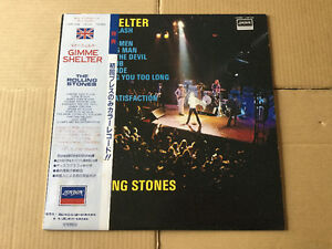 The Rolling Stones LP Japan Stereo Gimme Shelter Vinyl Rouge.