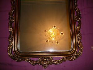 "Superbe miroir antique/1940, style Louis XVI, grand 27""x60"" doré West Island Greater Montréal image 10"