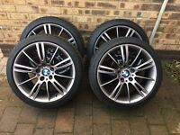 "BMW Alloy Wheels 193 MV3 Style M Sport 18"" with Bridgestone Run Flat Tyres"