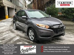 2016 Honda HR-V LX + CERTIFIED + MANAGERS SPECIAL!