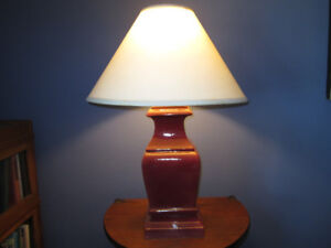 Cherry red table lamps