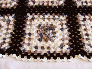 Beautiful Hand Crocheted Afghan #2 - White & Brown Tones - $50 Belleville Belleville Area image 4