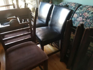 LARGE PUB TABLE AND 6 CHAIRS