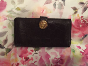 100% AUTHENTIC Gucci Guccissima Continental Wallet Brown