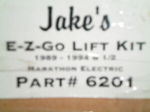 EZ GO GOLF CART LIFT KIT NEVER USED 92-94.5 ELECTRIC