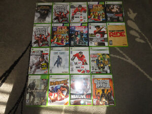 Variety of 18 Xbox 360 Video Games