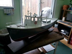 Hand built wooden fishing boat
