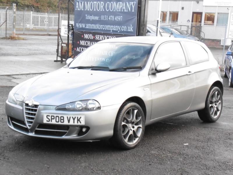 Alfa Romeo 147 1.9JTDM Sport, 2008, Grey, FSH, 6 Months Warranty, 1 Years Mot