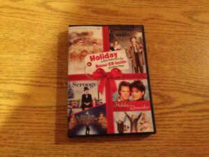 Xmas DVD or VHS movies or Xmas decors,  stockings, 5$ each photo