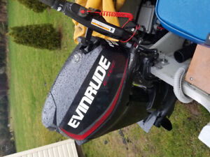 Outboard motor 25hp evinrude with extended warranty