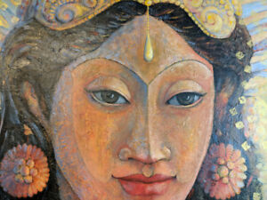 Large Original Painting Of a Thai Woman