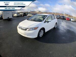 2012 Honda Civic Sedan LX  - Power Windows -  Power Locks