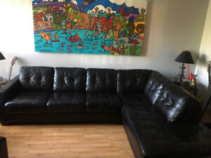 FREE black sectional couch/ sofa