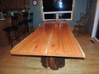 Hand crafted tables by Deep Forest in fanny bay